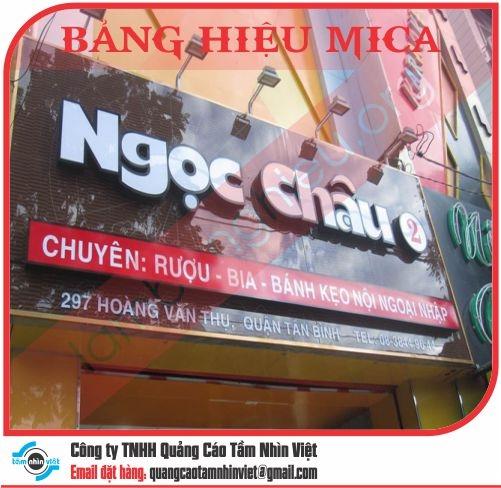 Làm bảng hiệu Đường Trần Quang Khải