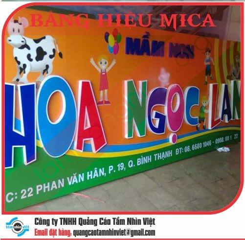 Mẫu bảng hiệu Mica 006