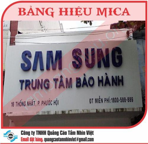 Mẫu bảng hiệu Mica 010