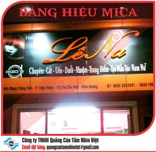 Mẫu bảng hiệu Mica 016