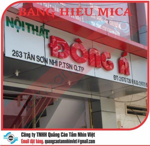 Mẫu bảng hiệu Mica 018