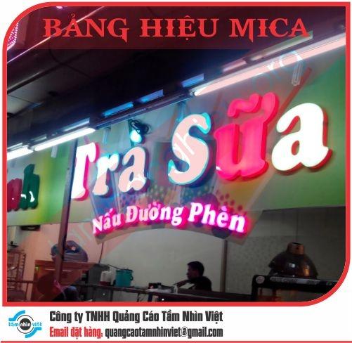 Mẫu bảng hiệu Mica 030