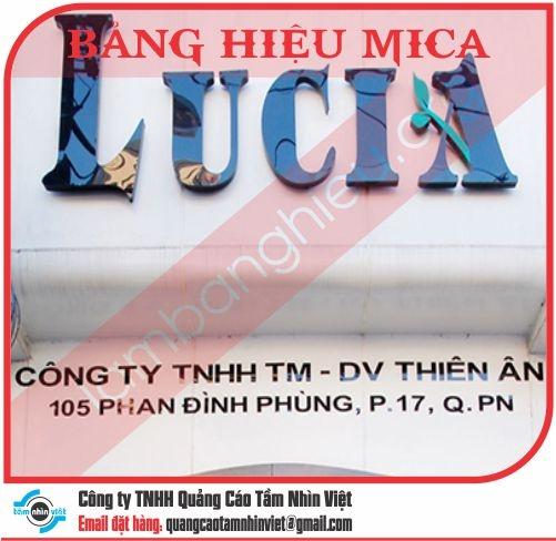 Mẫu bảng hiệu Mica 034