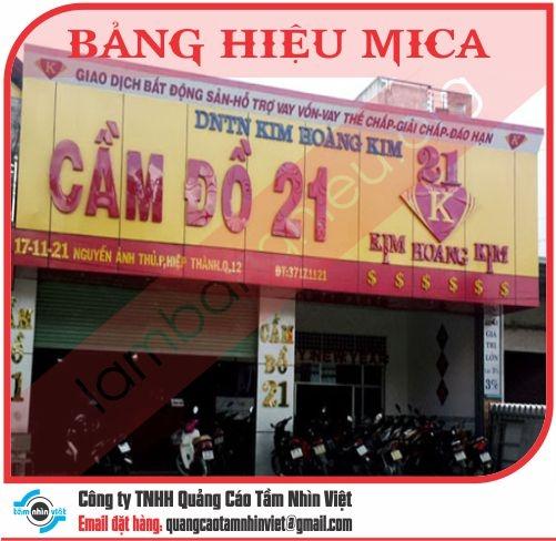 Mẫu bảng hiệu Mica 041