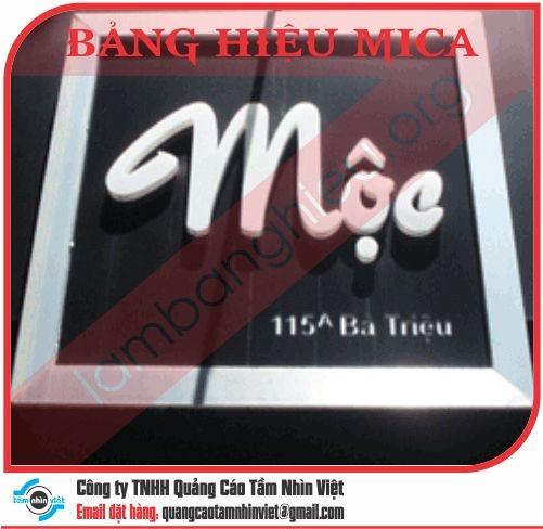 Mẫu bảng hiệu Mica 047