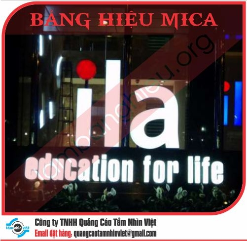 Mẫu bảng hiệu Mica 061