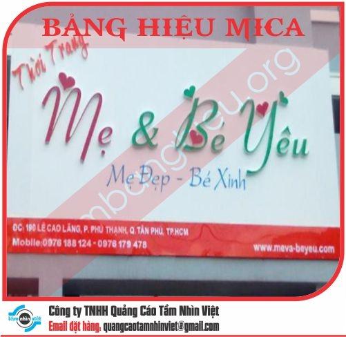 Mẫu bảng hiệu Mica 073