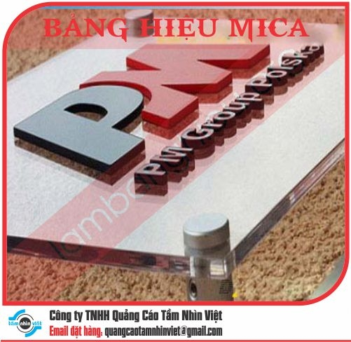Mẫu bảng hiệu Mica 081