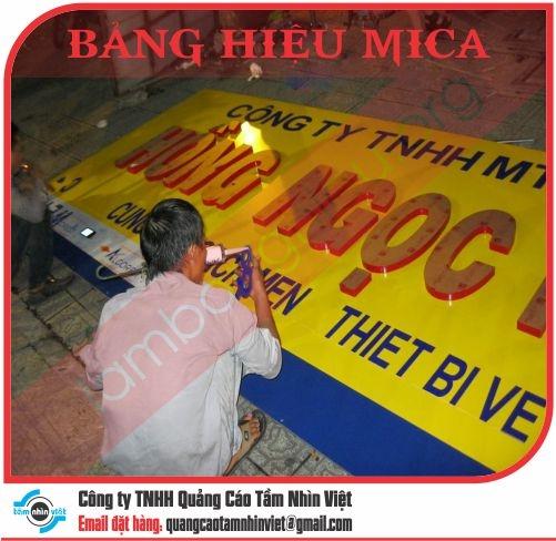 Mẫu bảng hiệu Mica 082
