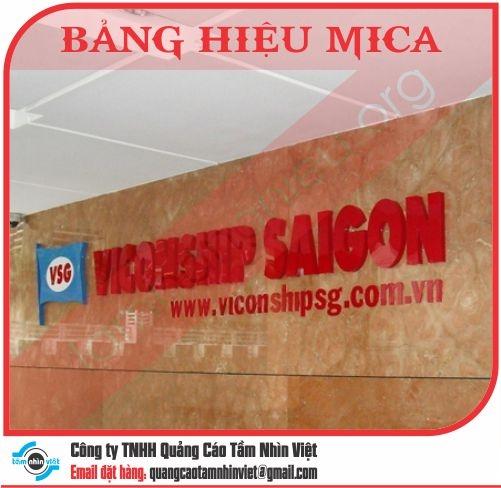 Mẫu bảng hiệu Mica 090