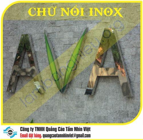 Chữ nổi Inox 009