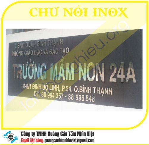 Chữ nổi Inox 035