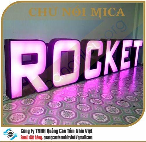 Chữ nổi Mica 002
