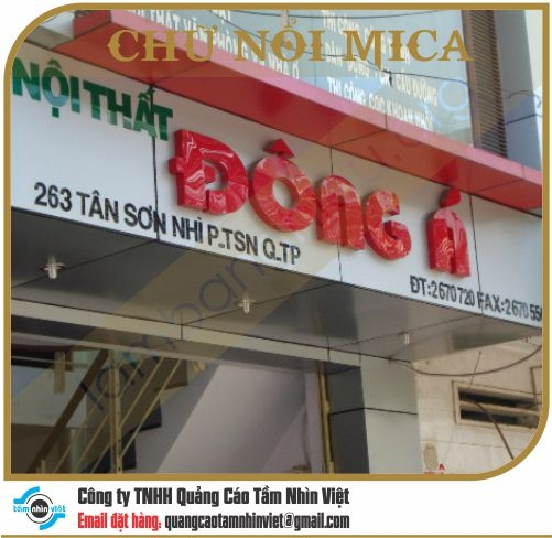 Chữ nổi Mica 012