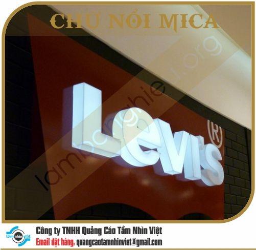 Chữ nổi Mica 020