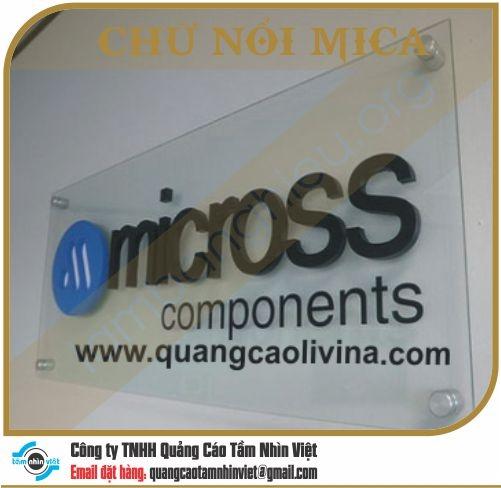 Chữ nổi Mica 038