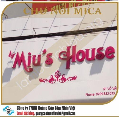 Chữ nổi Mica 079
