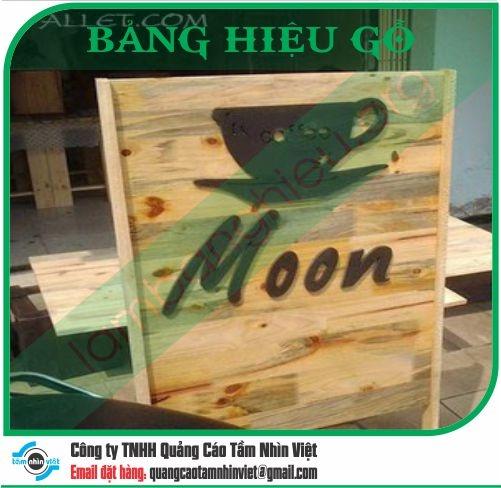 Mẫu bảng hiệu gỗ 022