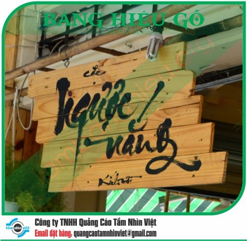 Mẫu bảng hiệu gỗ 051