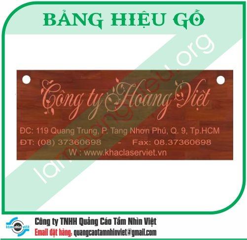 Mẫu bảng hiệu gỗ 062