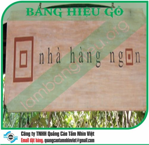 Mẫu bảng hiệu gỗ 089