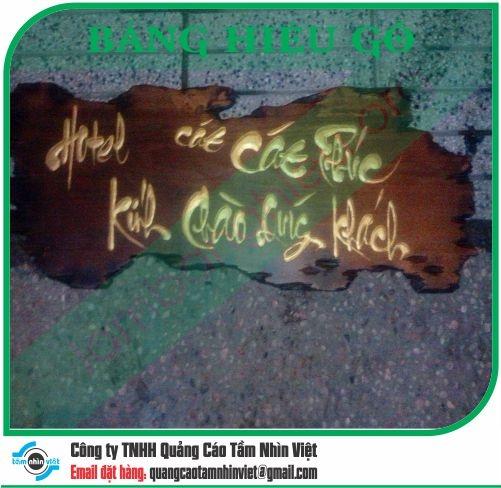 Mẫu bảng hiệu gỗ 095