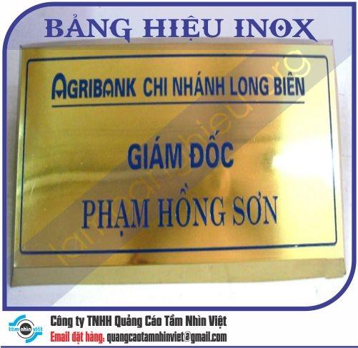 Mẫu bảng hiệu inox 004
