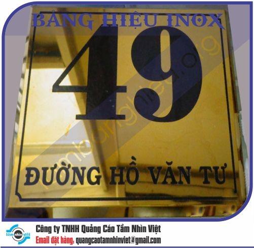 Làm bảng hiệu Đường Hoàng Việt