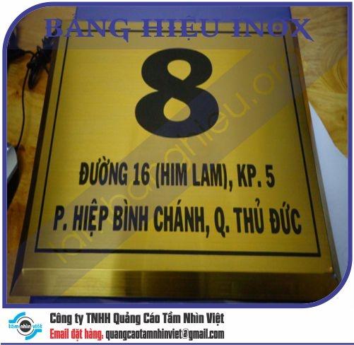 Mẫu bảng hiệu inox 012
