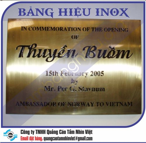 Mẫu bảng hiệu inox 015