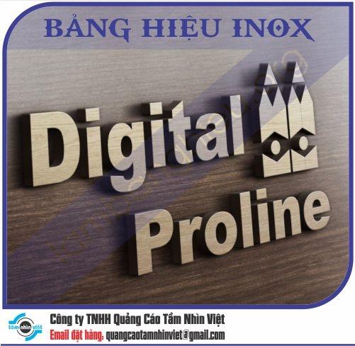 Mẫu bảng hiệu inox 023