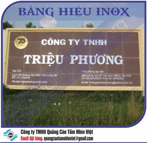 Mẫu bảng hiệu inox 025
