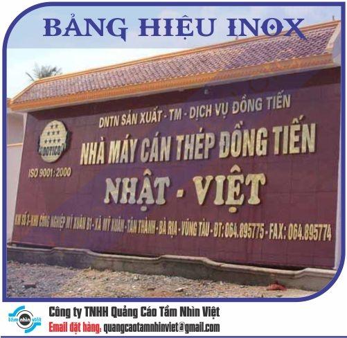 Mẫu bảng hiệu inox 031