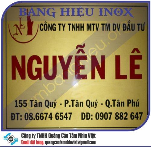 Mẫu bảng hiệu inox 032