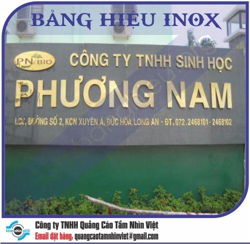 Mẫu bảng hiệu inox 033
