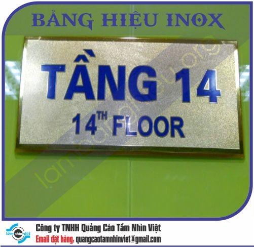 Mẫu bảng hiệu inox 035