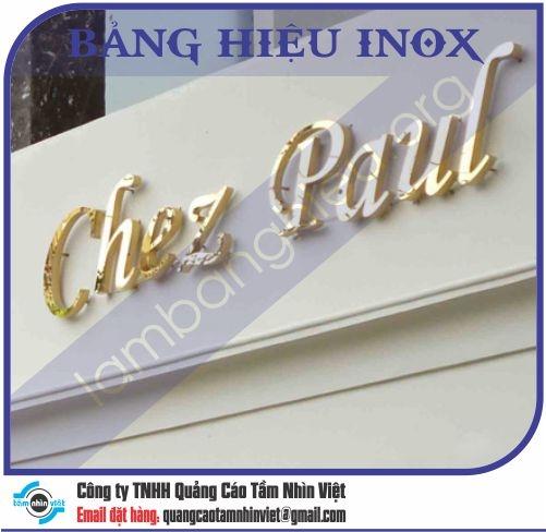 Mẫu bảng hiệu inox 038