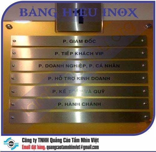 Mẫu bảng hiệu inox 040