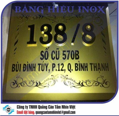 Mẫu bảng hiệu inox 042