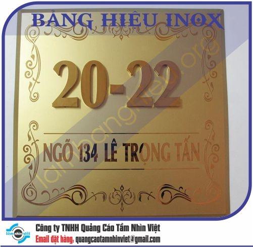 Mẫu bảng hiệu inox 055