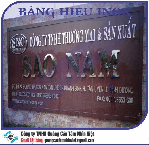 Mẫu bảng hiệu inox 057