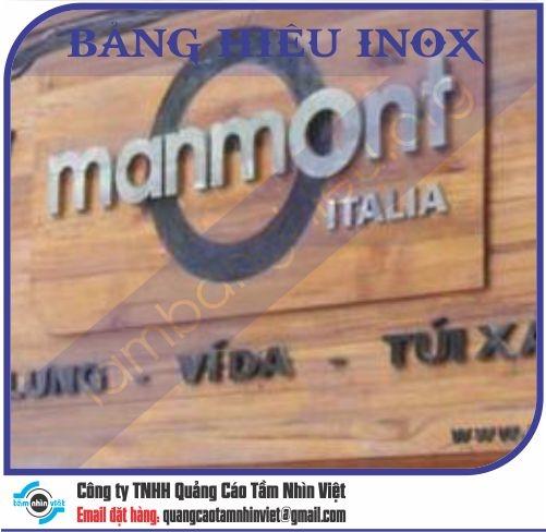 Mẫu bảng hiệu inox 061
