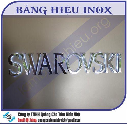 Mẫu bảng hiệu inox 070