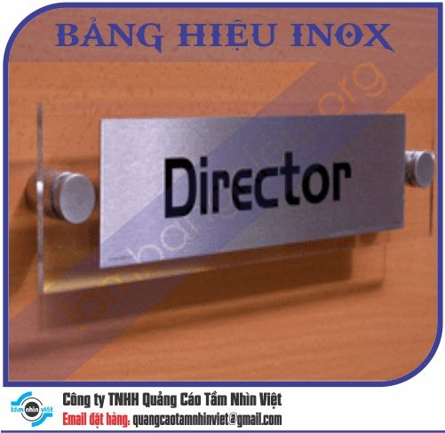 Mẫu bảng hiệu inox 072