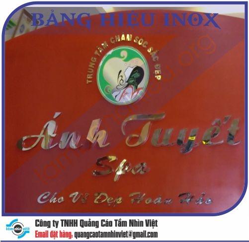 Mẫu bảng hiệu inox 086