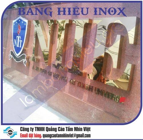 Mẫu bảng hiệu inox 089