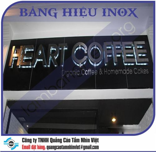 Mẫu bảng hiệu inox 091