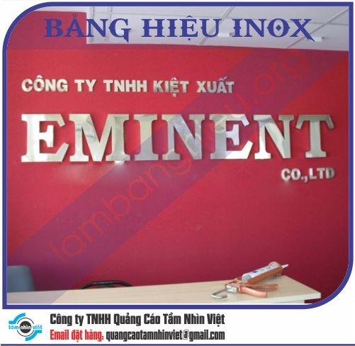 Mẫu bảng hiệu inox 097