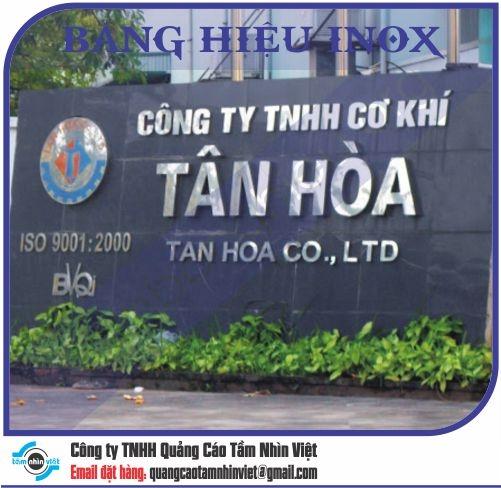 Mẫu bảng hiệu inox 098