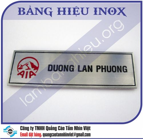 Mẫu bảng hiệu inox 101